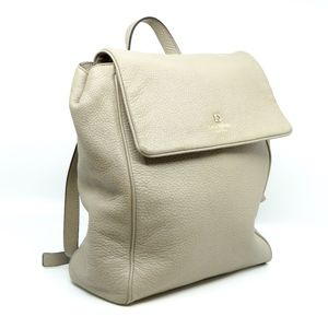 KATE SPADE~grant park callen~GRAY LEATHER BACKPACK